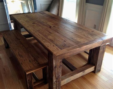 25 best ideas about reclaimed wood tables on fresh barnwood kitchen table gl kitchen design