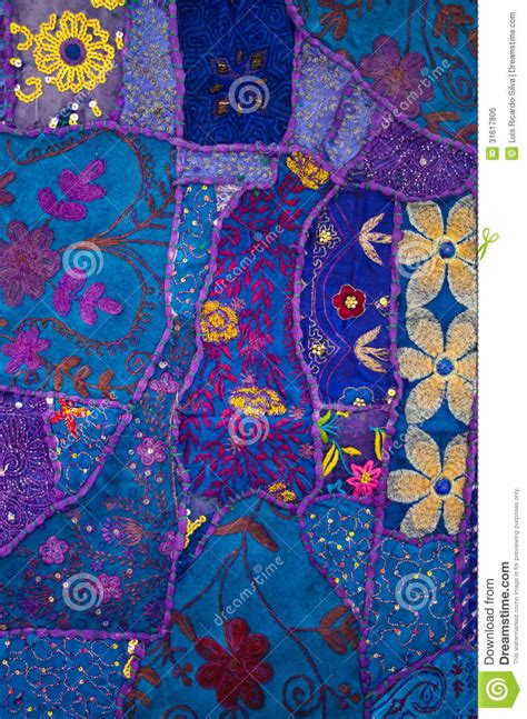 Indian Patchwork - indian patchwork quilt 2 stock photo image of patchwork