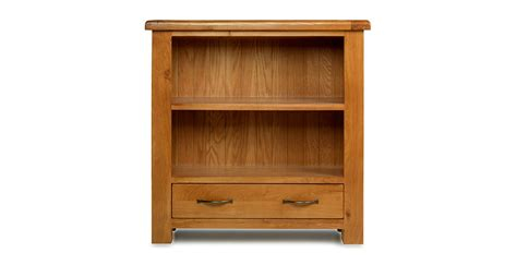 emsworth oak low bookcase with drawer lifestyle furniture uk