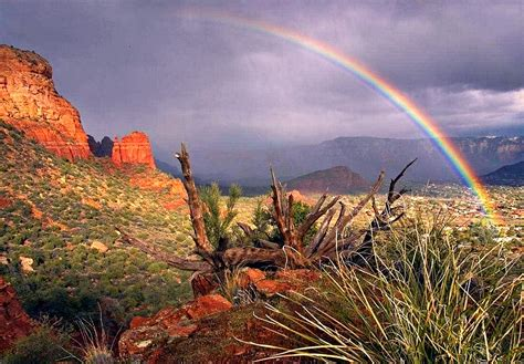 rainbow landscape sedona arizona p photograph by carol