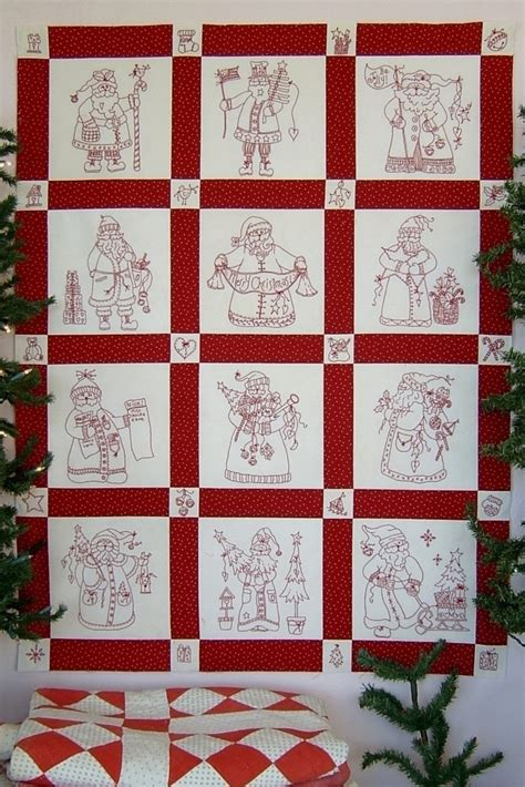 Santa Quilt Pattern by Here Comes Santa Quilt Pattern Sew Enchanting