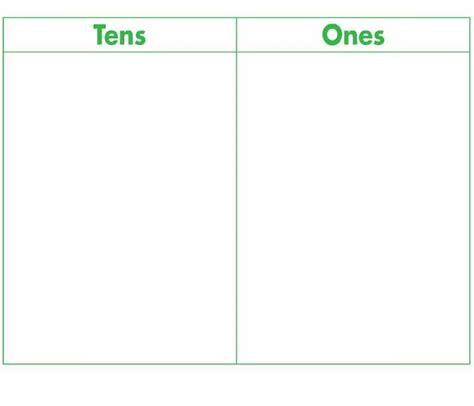 Tens And Ones Mat glencoe manipulative work mats lakeview