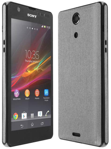Sony Xperia Zr skinomi techskin sony xperia zr brushed aluminum skin