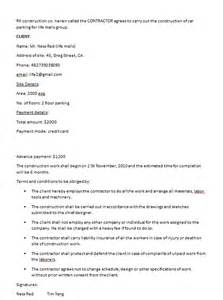building contractor contract template free contract templates word pdf agreements part 3