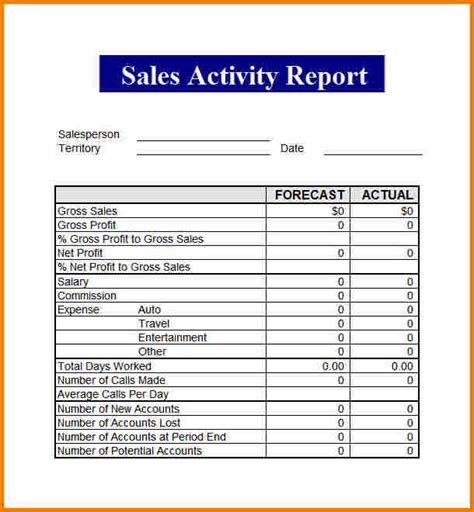 sales report template sales report template authorization letter pdf