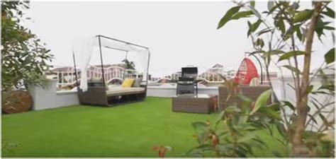 membuat taman  atas bangunan rumah