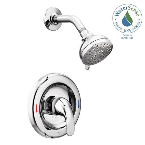 Moen Kitchen Faucets Home Depot moen adler 1 handle 1 spray shower faucet with valve in