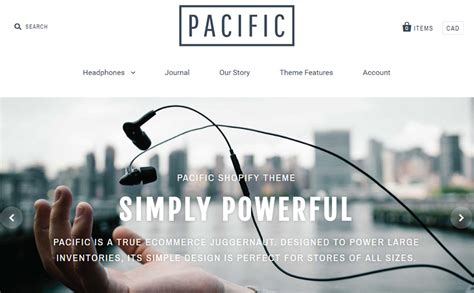 shopify themes pacific 20 best premium paid shopify ecommerce themes vandelay