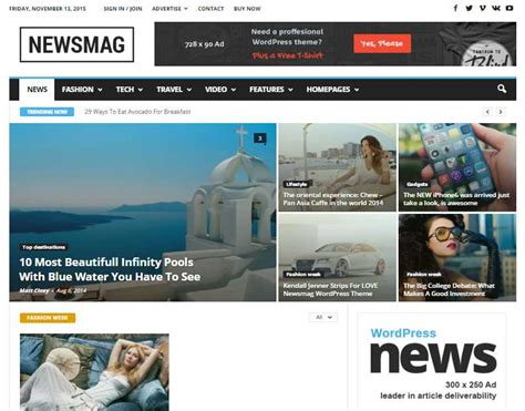 Newsmag Theme | top20 best magazine style wordpress themes for news