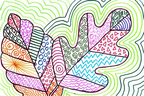 color pattern drawing color pattern leaves art projects for kids