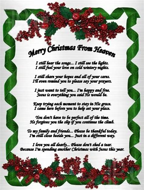 printable christmas in heaven poem merry christmas in heaven quotes quotesgram