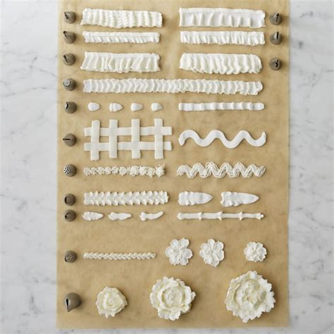 ateco 7 ruffle decorating tip set williams sonoma