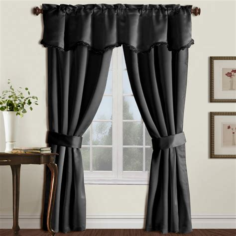 curtain setting united curtain burlington 5 piece window curtain set