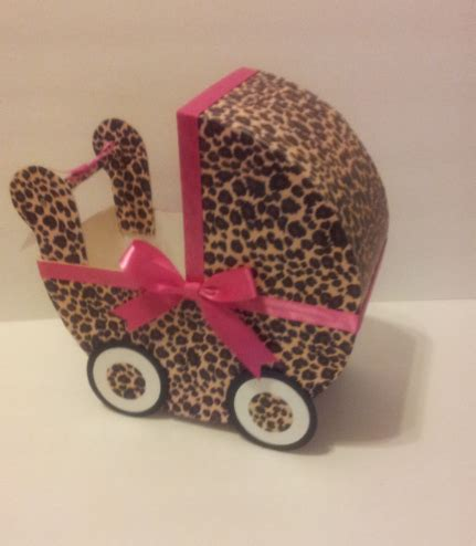 Leopard And Pink Baby Shower Decorations by Leopard Pink Baby Carriage Table Centerpiece Baby Shower Decor Almostbabytime Children S