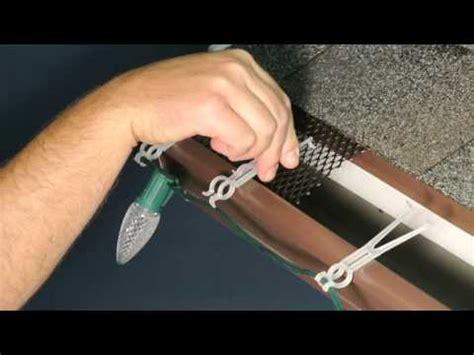 gutter light clips leaf screen gutter