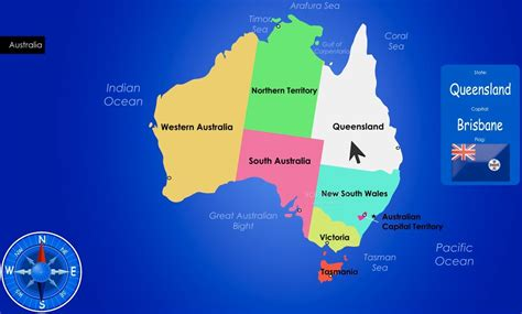 map of australia with states largest most detailed australia map and flag travel
