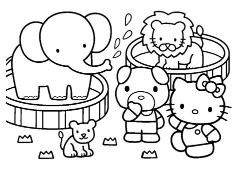 colouring in pages to print hello kitty halloween coloring pages bestofcoloring com