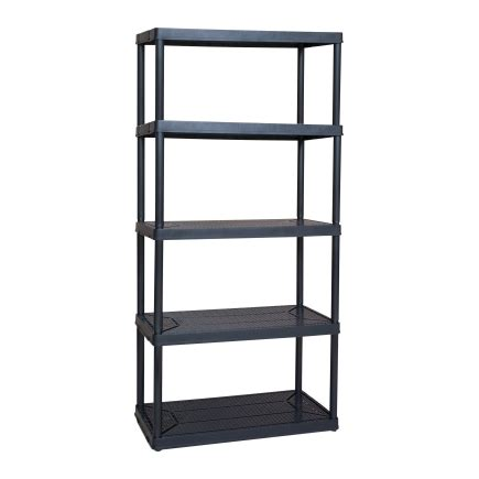 maxit 5 tier ventilated plastic shelving 18in d x 36in w x