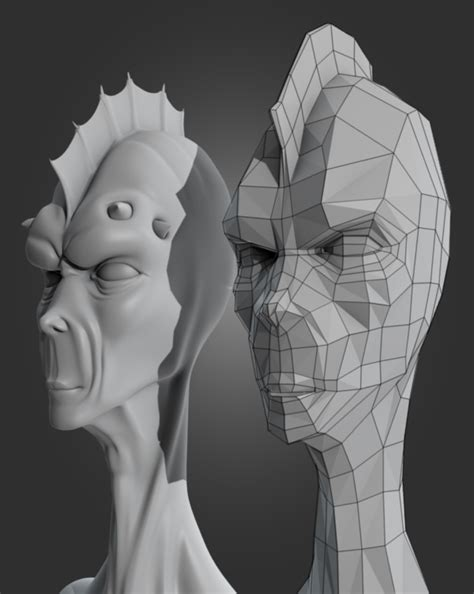 blender tutorial alien re topologize a game ready alien head in blender