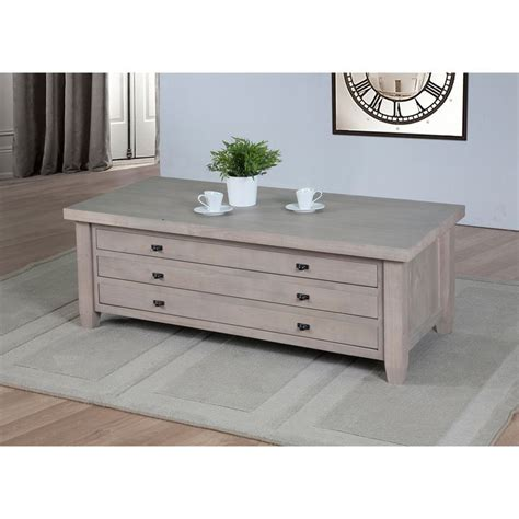 navigator dove grey coffee table