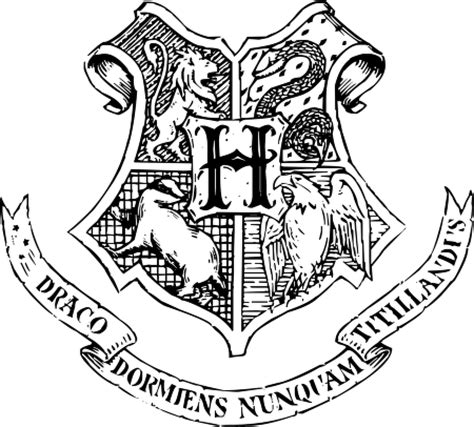 Hogwarts Logo Outline by Hogwarts School Of Witchcraft And Wizardry Logo Vector In Eps Vector Format