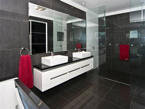 Modern Bathroom Photos Modern Bathroom Design With Built In Shelving Using Frameless Glass Bathroom Photo 458667
