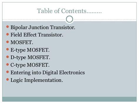 transistor mosfet slideshare the revolution from transistor to digital electronics