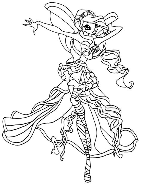 coloring pages for winx club winx princess coloring pages and print for free
