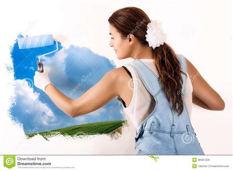 painting a mural on a wall with acrylic paint ecologist mural painting on wall decor with acrylic paint