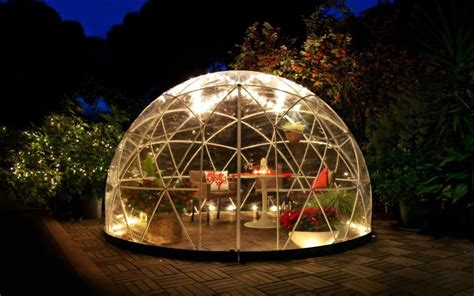bubble house village japan bubble houses geodesic indoor outdoor solution grilling winter gling insidehook