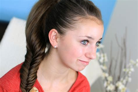easy hairstyles with box fishtales fluffy fishtail braid hairstyles for long hair cute