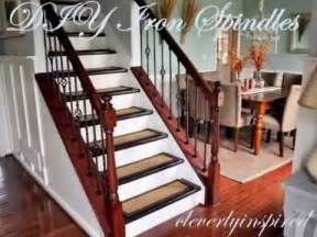 Diy Stairs Remodel by Diy Iron Spindles Staircase Remodel Youtube