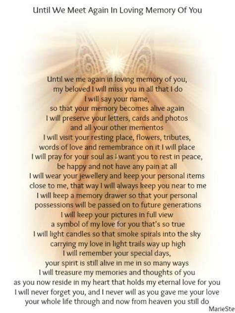 Until We Meet Again In Loving Memory Of You   The Grief Toolbox