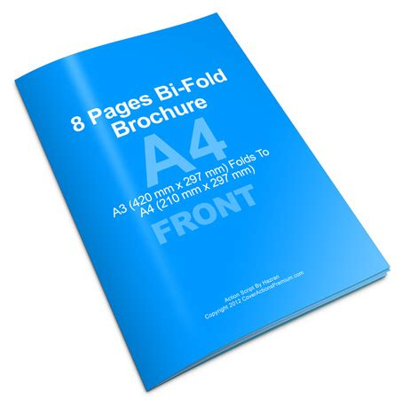 Bi Fold Brochure Paper - 8 pages a4 bi fold brochure script photoshop