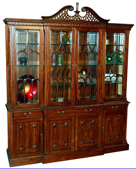 Mahogany China Cabinet by Large Chippendale Mahogany Front China Cabinet Ebay