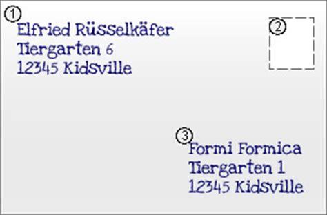 Brief Schreiben Muster Umschlag Snail Mail Oder Post Kidsville
