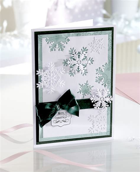 die cut cards for card how to make a snowstorm die cut card hobbycraft