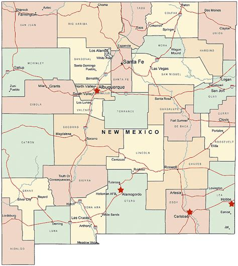 nm map new mexico map and new mexico satellite images