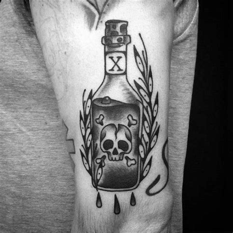 40 poison bottle tattoo designs for men killer ink ideas