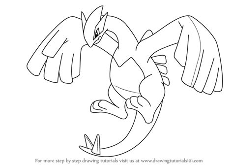 pokemon coloring pages carracosta learn how to draw lugia from pokemon pokemon step by