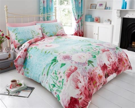 vera floral roses modern duvet cover bedding quilt set all