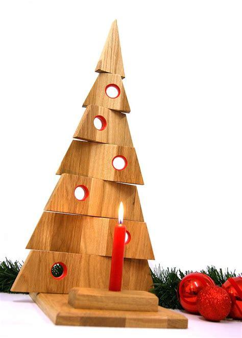 oak christmas tree table decoration by mijmoj design