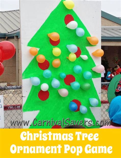 themes for winter carnival fun christmas carnival idea christmas tree balloon pop