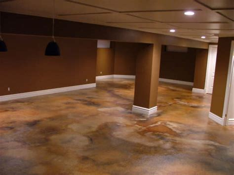 1500 sqft basement acid staining in photo gallery