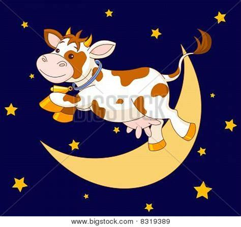 Large Plate 31 900 Per Pcs cow jumping the moon stock vector stock photos