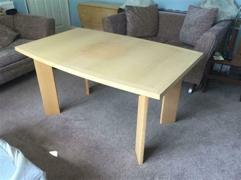 large good quality danish wooden extending kitchen table