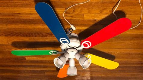 primary color ceiling fan hton bay carousel ii ceiling fan 44 quot primary colored
