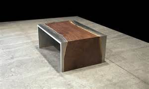 Stainless Steel And Wood Coffee Table Steel And Wood Coffee Table By Johnhoushmand