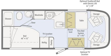 winnebago via floor plans apelberi 22 winnebago brave floor plans 08