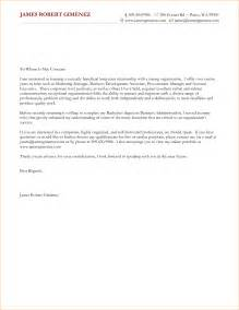 Generic Cover Letter Exle by 6 General Cover Letter Template Outline Format